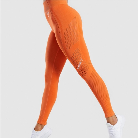 5178cb1f411ac Gymshark Flawless Knit - orange Set. M_5c7b080f534ef9ff9f6be112
